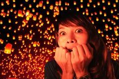 Festival Chiang Mai, Tailandia de Yi Peng Fotos de archivo libres de regalías