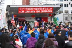 Festival in Chinatown del centro Immagine Stock Libera da Diritti