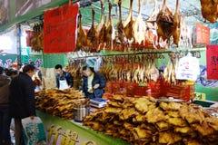 Festival chino de las compras del Año Nuevo en Sichuan Imagen de archivo libre de regalías