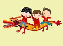 Festival chino del Año Nuevo/danza del dragón ilustración del vector
