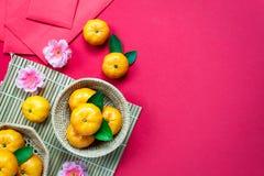 Festival chino del Año Nuevo de los accesorios de la visión superior Imágenes de archivo libres de regalías