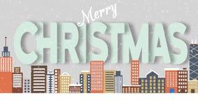 A metro city and Christmas