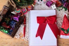 Festival of Christmas gifts and decorations xmas day. Stock Photos