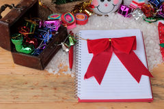Festival of Christmas gifts and decorations xmas day. Royalty Free Stock Image