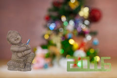 Festival Christmas and New Year greeting cards blurred Clipping Stock Photo