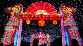 2014 festival cinesi della fiera e di lanterna del tempio del nuovo anno video d archivio