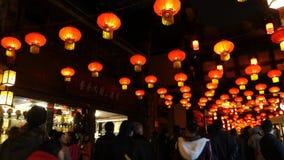 2014 festival cinesi della fiera e di lanterna del tempio del nuovo anno stock footage
