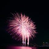 Festival coloré de feu d'artifice dans la célébration image stock
