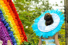 Festival coloré de fleur en Chiang Mai images libres de droits