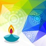 Festival colorido del diwali ilustración del vector