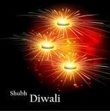Festival colorido del fondo de la celebración hermosa feliz del diwali ilustración del vector