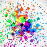 Festival colorido del indio del chapoteo del grunge hermoso libre illustration