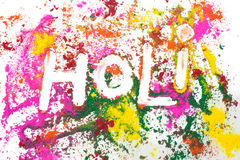 Festival of Colors. The word Holi (the festival of colors) spelled out in various colors Royalty Free Stock Image