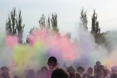 Festival of colors stock image
