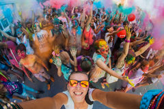 Festival of colors. Royalty Free Stock Photo