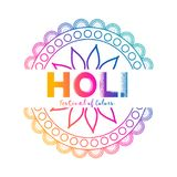 Festival of colors holi celebration background. Vector Royalty Free Stock Photos