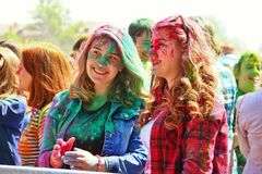 Festival of colors Holi in Tula, Russia Royalty Free Stock Image