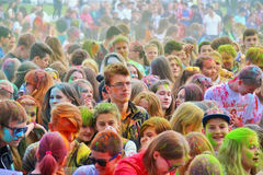 Festival of colors Holi in Tula, Russia Royalty Free Stock Images