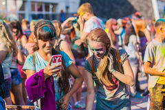 Festival of colors. Royalty Free Stock Image