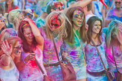 Festival of Colour Holi one party Royalty Free Stock Photography