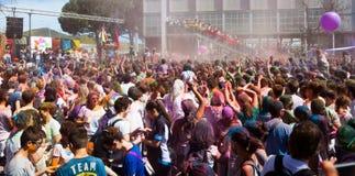 Festival of colours Holi Barcelona Stock Photo