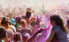 Festival of colours Holi Barcelona Stock Images