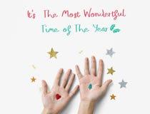Festival Conce del día de fiesta de la Feliz Navidad y de la familia de la Feliz Año Nuevo Fotos de archivo libres de regalías