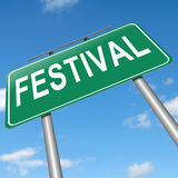 Festival concept. Illustration depicting a sign with a festival concept Stock Photo