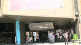 Festival congress center Varna in Bulgaria stock video