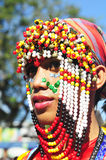 Festival costume. Picture of a festival participant in Kadayawan festival, Davao City Philippines Stock Photography