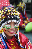 Festival costume. Picture of a female participant in Kadayawan festival, Davao City Philippines Royalty Free Stock Image
