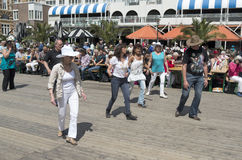 Festival of Country line dancing. Royalty Free Stock Image
