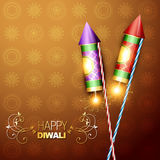 Festival cracker. Stylish diwali festival cracker rocket on artistic background Royalty Free Stock Photos