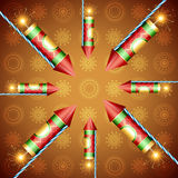 Festival cracker. Vector festival cracker background illustration Stock Photo