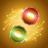 Festival crackers. Vector festival crackers design illustration Royalty Free Stock Photography