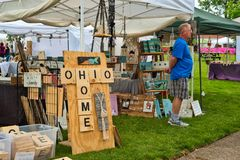 Festival craft booth Royalty Free Stock Images