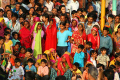 Festival crowd. Colourful crowd observing a festival in Jaipur, India Royalty Free Stock Images