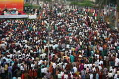 Festival Crowds. Thousands of people gather in a public place on the occassion of Diwali festival in India Stock Photos