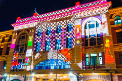 Festival cultural de la noche blanca en 2015, Melbourne, Australia Fotografía de archivo