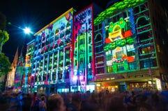 Festival cultural de la noche blanca en 2015, Melbourne, Australia Fotos de archivo libres de regalías