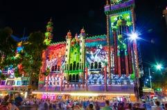 Festival cultural de la noche blanca en 2015, Melbourne, Australia Foto de archivo