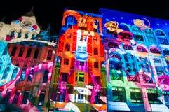 Festival cultural de la noche blanca en 2015, Melbourne, Australia Foto de archivo libre de regalías