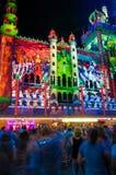 Festival culturale di notte bianca nel 2015, Melbourne, Australia Immagini Stock