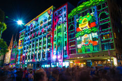 Festival culturale di notte bianca nel 2015, Melbourne, Australia Fotografie Stock Libere da Diritti