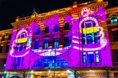Festival culturale di notte bianca nel 2015, Melbourne, Australia Immagine Stock