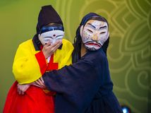 Festival 2018 d'Andong Maskdance photographie stock