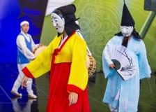 Festival 2018 d'Andong Maskdance image libre de droits