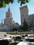 Festival d'Avignon. Avignon, France - July 11th, 2012:  The Popes' palace in Avignon, France during the famous Theatre festival Stock Images
