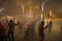 Festival d'incendie des régions catalannes Image stock