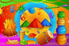 Festival d'Inde de fond heureux de Holi de couleur illustration de vecteur